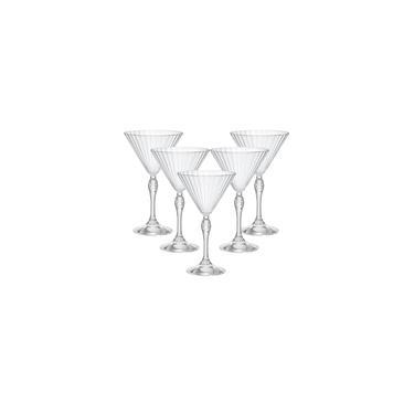 Imagem de Jogo Com 6 Taças de Cristal Para Martini 245ml America'20s - Bormioli Rocco - Fabricado na Itália