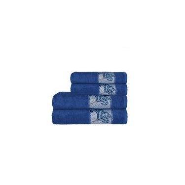 Imagem de Toalha Naturae De Rosto 45x80cm Azul Royal
