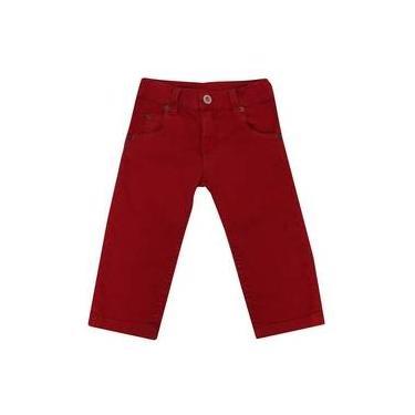 Calça Masculino 1+1 Em Sarja Vermelho