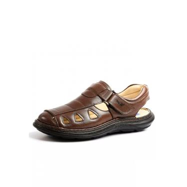 Sandália Doctor Shoes 917302 Café 917302-CH-176-1044 masculino