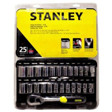 Jogo De Soquetes Polido 25 Pçs Stanley