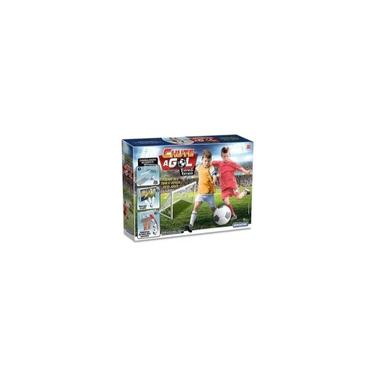 Imagem de Kit 3 Chute Gol A Gol 02 Traves 02 Rede 01 Bola Infantil