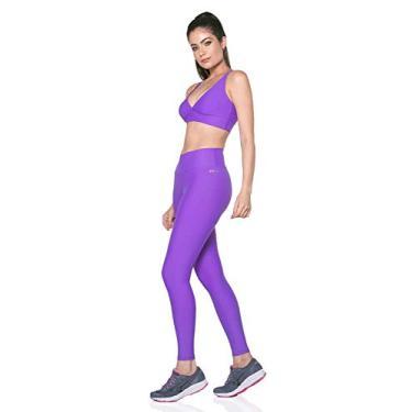 Legging Fitness Feminina Sense Move DRY UV50+ (Roxo, G)