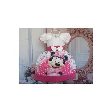 Vestido De Festa infanti Minnie Bebê