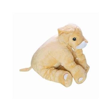 Almofada Elefante de Pelúcia Soft Média Doce de Leite