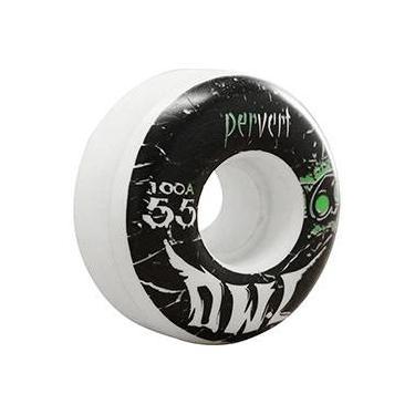 Roda para Skate Pervert 55mm Owl Sports - Branco