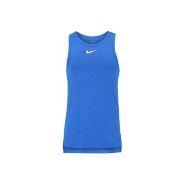 Camiseta Regata Nike Breathe Elite SL - Masculina - AZUL BRANCO Nike 6f46e12f83e