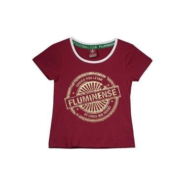 Camisa Fluminense Juvenil Feminina Vermelha