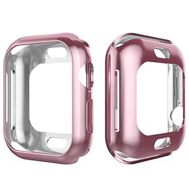 Capa Lisa Para Apple Watch Series 1 2 3 4 tamanho 42mm rose
