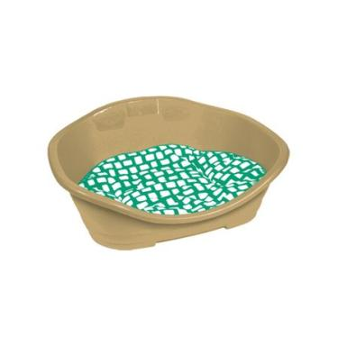 Cama Plástica Chalesco Tamanho 1 45x32x22 CM Almofada Verde