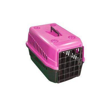 Caixa De Transporte n3 Para Cães E Gatos Grande Rosa