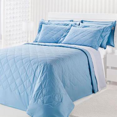d7424f8f46 Colcha Matelassê Solteiro 180x220cm Royal Comfort 2 Peças Plumasul - Azul