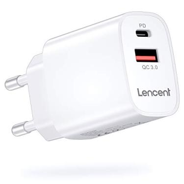 Carregador USB C LENCENT [certificado MFi-PD], Carregador móvel de 18 W Power Delivery 4.0 e Carga rápida USB QC 3.0 para iPhone 12-8 Series, iPad Pro, Galaxy, Huawei, Switch