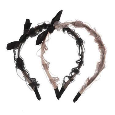 FRCOLOR 2Pcs Bowknot Headband Organza Faixa de Cabelo Headband Bonito Acessórios Para O Cabelo