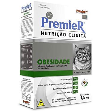 Ração Premier Nutrição Clínica Obesidade para Gatos Adultos - 1,5kg Premier Pet para Todas Todos os tamanhos de raça Todas as fases -