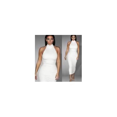 Imagem de Europa E América Verão Vestido Novo Escritório Senhora Vestidos Sem Mangas Branco Tamanho Grande