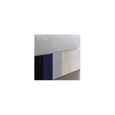 Imagem de Saia Box Solteiro Premium Prata 200Fios Matelassê Naturalle