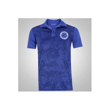 Camisa Polo do Cruzeiro Camuflada - Masculina - AZUL Xps Sports a7253559cb17c