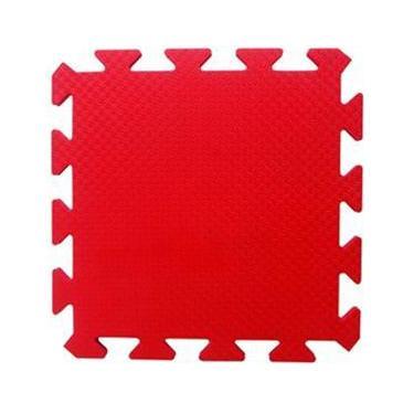 Tapete Tatame EVA Yoga Lutas Ginastica Vermelho 50x50x3cm 30mm