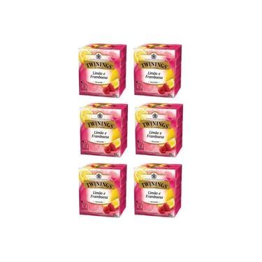 6 X Chá Misto 15 G Limão Framboesa Twinings Of London 15g 60 Sachês