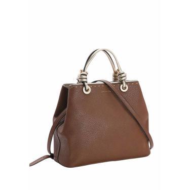 Bolsa Feminina Chenson Detalhe Dourado de Mão Café 3482986  feminino
