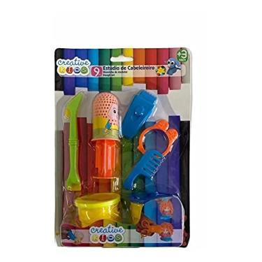 Imagem de Brinquedo Infantil Cabeleireiro Barbearia Massinha Modelar