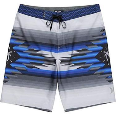Bermuda Água Hurley Phantom Pendleton - Cinza/azul - 40