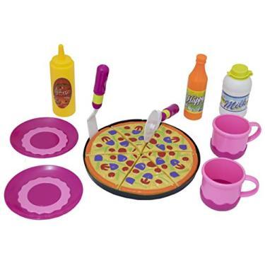 Imagem de Kit Lanchinho Da Tarde Infantil Conjunto lanchinho com Pizza Ou Conjunto Chá da Tarde com Bolo Happy Kitchen BBR TOYS (BRANCA)