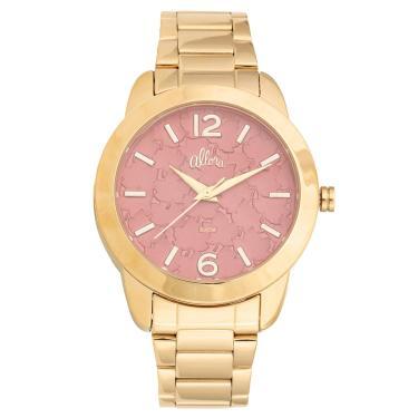 ae1f0bba8e1 Kit Relógio Feminino Allora Analógico AL2036FGT K4R - Dourado
