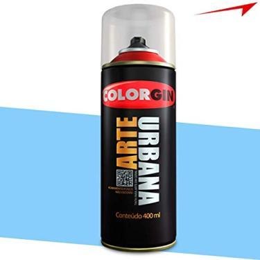 Tinta Spray Arte Urbana Colorgin 350ml Azul Céu 923