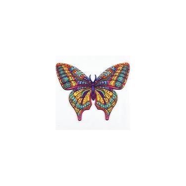 Imagem de 3d Quebra Cabeça Borboleta Puzzle De Madeira Animal 124 Peça