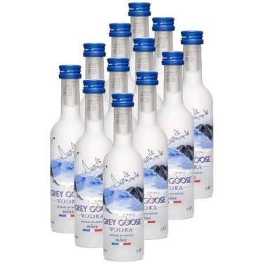 Mini Vodka Grey Goose 50ml 12 unidades