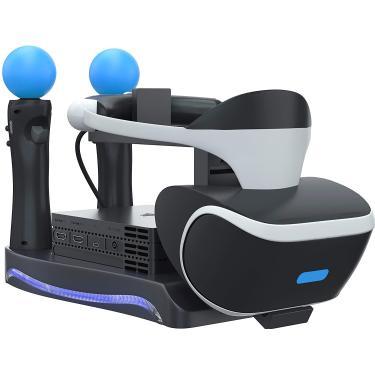 Skywin PSVR Stand - Carregar, mostrar e exibir seu fone de ouvido e processador PS4 VR - Compatível com Playstation 4 PSVR - Estação de carregamento do controle de vitrine e movimento