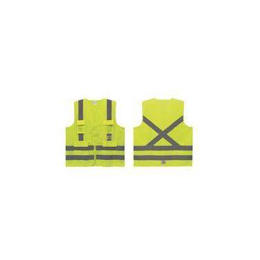 Colete Refletivo 4 Bolsos Amarelo Super Safety