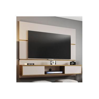 Painel Para Tv 65 Polegadas 2 Portas Âmbar Off White/cinamomo