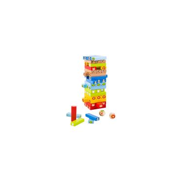 Imagem de Jogo Jenga Animais Com Dados Tooky Toy