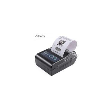 Imagem de Aibecy Mini impressora térmica portátil 58HB6 Impressora sem fio Bluetooth USB + Bluetooth preto