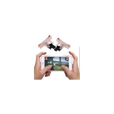 1 Par Gaming Controlador de Jogos Plástico Trigger Snap-on Gamepad Jogo de Telefone Handle para pubg