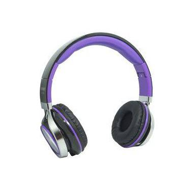 Fone Ouvido Headfone Estéreo Com Fio P2 Microfone Bass Celular Pc Ps4 Infokit Hm-750mv Preto/roxo