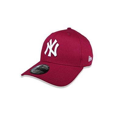 Imagem de BONE 39THIRTY MLB NEW YORK YANKEES ABA CURVA STRETCH FIT VERMELHO ESCURO New Era
