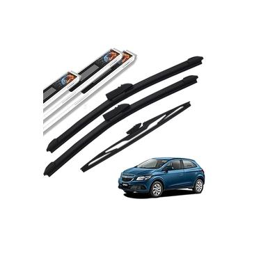 Palheta Limpador Parabrisa Chevrolet Onix 2012 a 2017 Dianteiro e Traseiro Original AutoImpact
