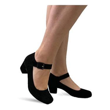 Sapato Feminino Boneca Sarah Calçados 880 (36, Preto Nobuck)