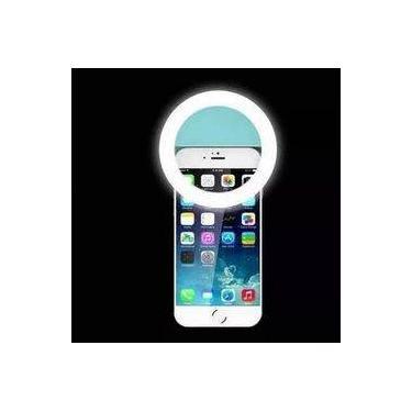 Luz Selfie Ring Light Clipe Celular Universal Recarregável