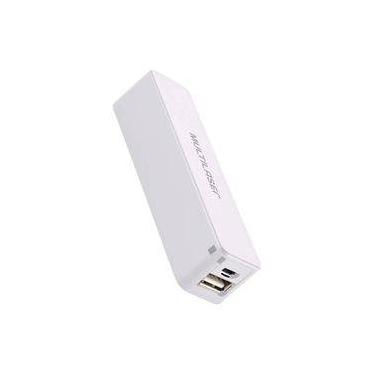 Carregador Multilaser USB Portátil Power Bank 2200 Mah Branco CB101
