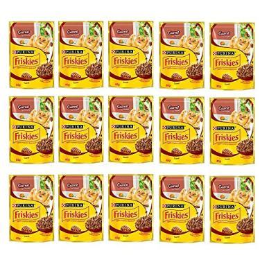 FRISKIES Carne ao Molho 85g - Caixa c/15 Unidades