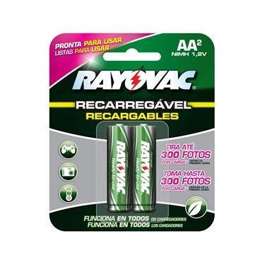 Pilha Recarregável Econômica Rayovac AA (Pequena) - Cartela com 2 unidades