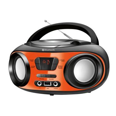 Rádio Mondial Boombox Nbx-13 Entrada Usb Fone De Ouvido Rádio Fm Display Digital 6W Rms