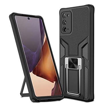 MOONCASE Capa para Samsung Galaxy Note 20, suporte magnético para carro, capa protetora à prova de choque para Samsung Galaxy Note 20 de 6,5 polegadas - preta