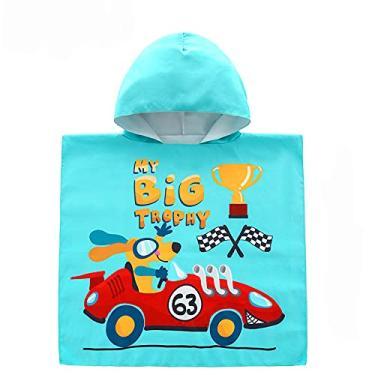 Imagem de Toalha de praia infantil com capuz para meninas meninos e crianças pequenas toalha de banho com capuz toalha de banho com chapéu (My Big tropny, M 6665 cm)