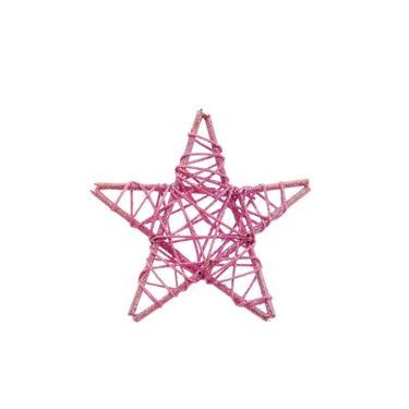 Estrela Decoração Natal 15Cm Rosa